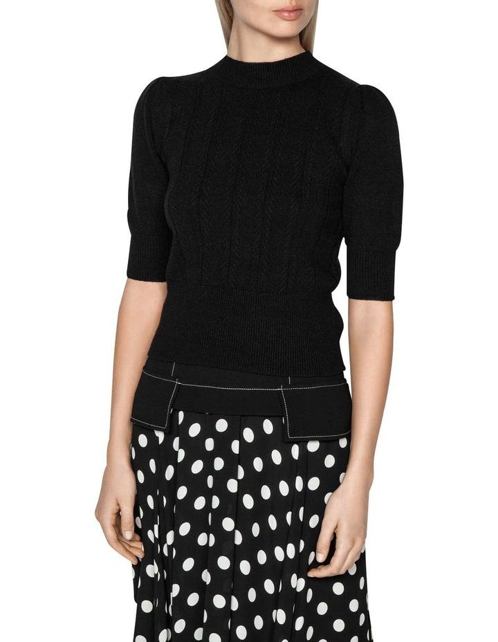 Herringbone Rib Short Sleeve Sweater image 2