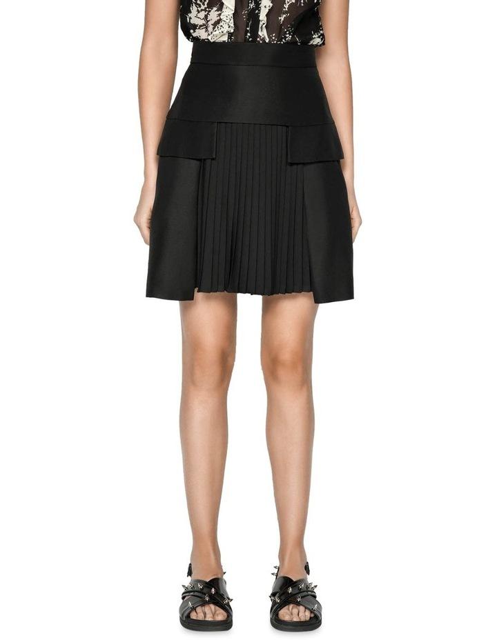 Pleated Linen Blend Mini Skirt image 2