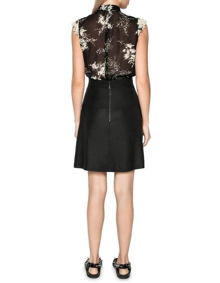 Pleated Linen Blend Mini Skirt image 3