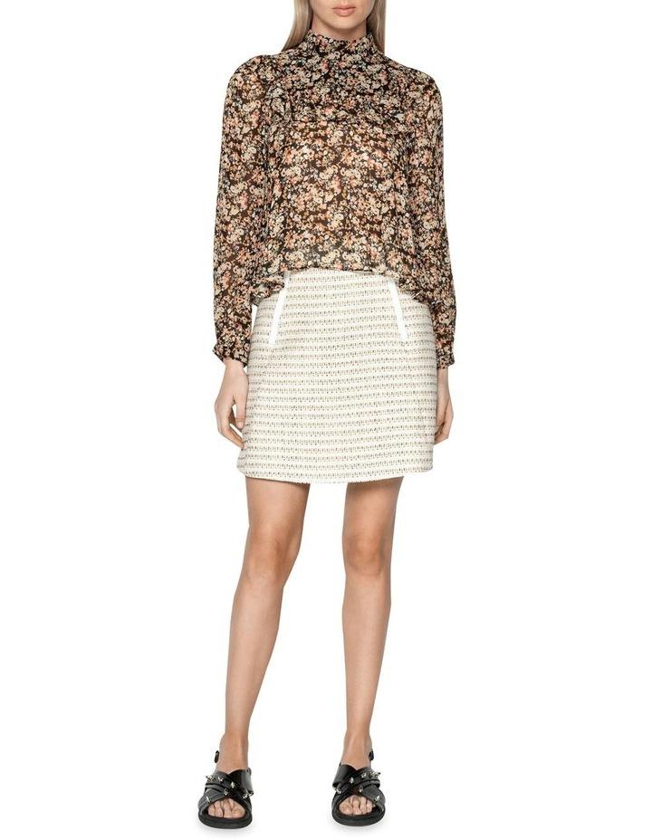 Cotton Boucle Stripe Mini Skirt image 1