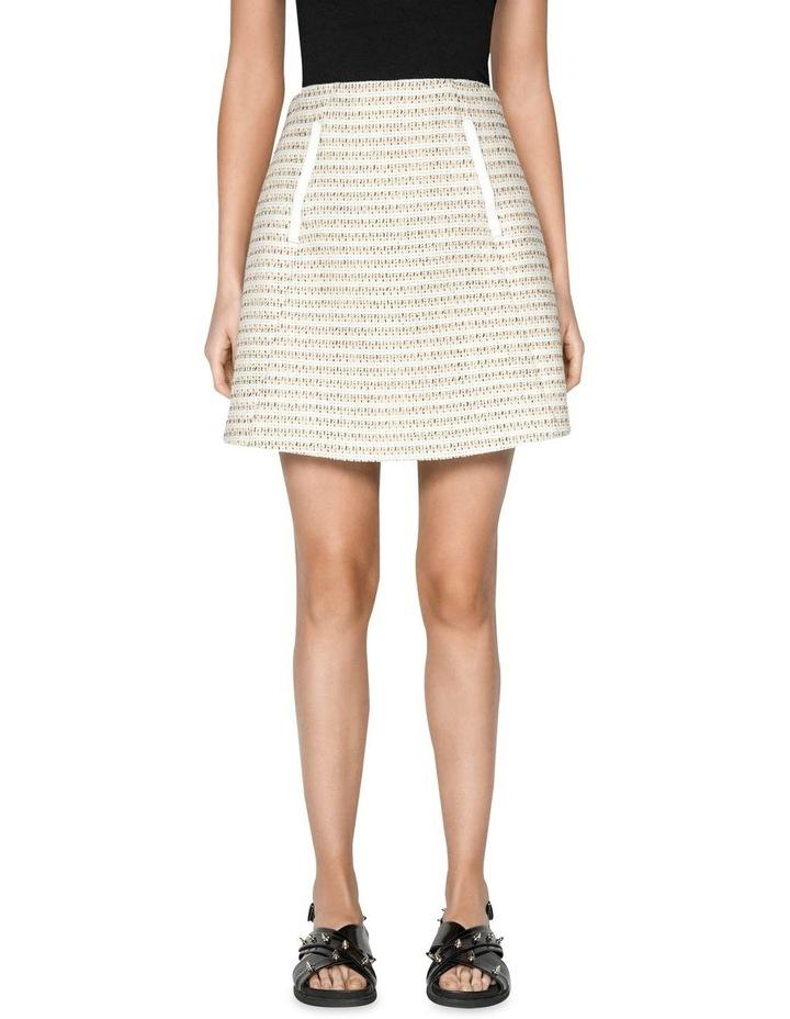 Cotton Boucle Stripe Mini Skirt image 2