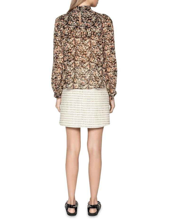 Cotton Boucle Stripe Mini Skirt image 3