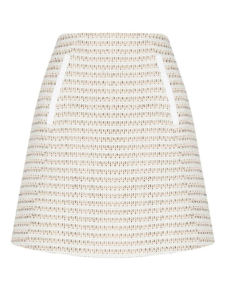 Cotton Boucle Stripe Mini Skirt image 4