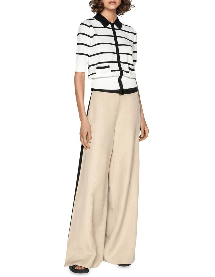 Stripe Polo Collar Cardigan image 1