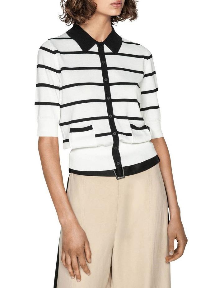 Stripe Polo Collar Cardigan image 2