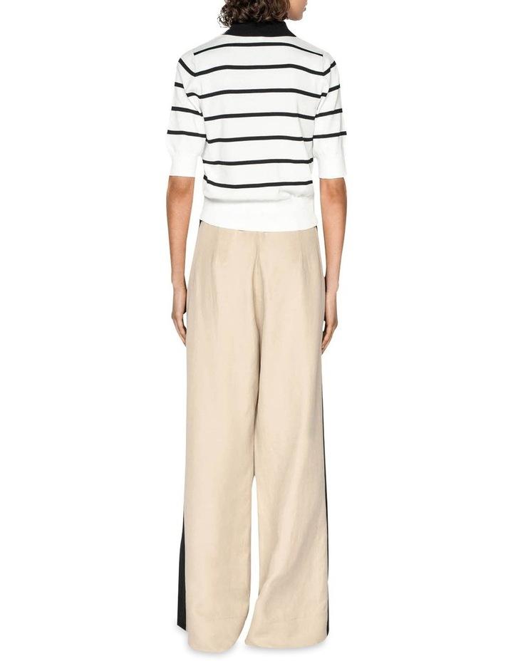 Stripe Polo Collar Cardigan image 3