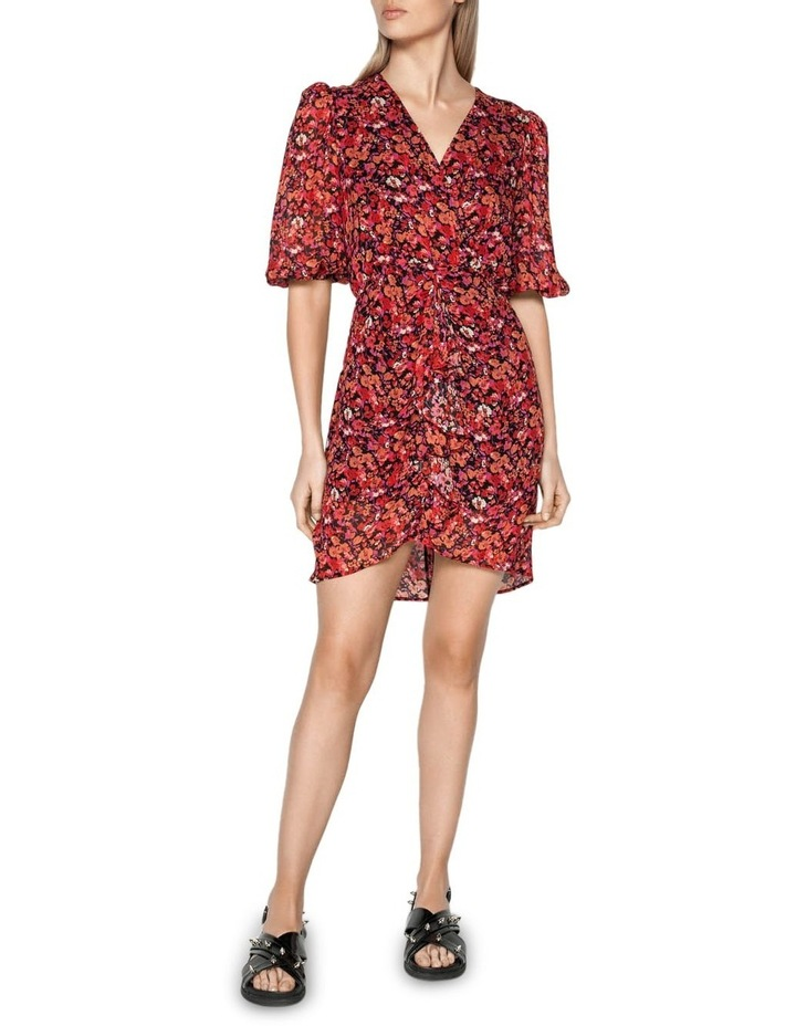 Berry Floral Viscose Dress image 1