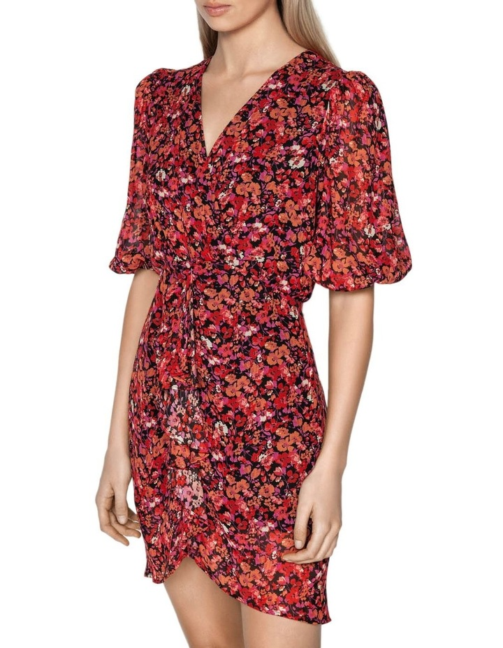 Berry Floral Viscose Dress image 2