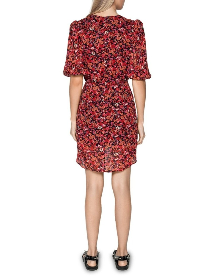 Berry Floral Viscose Dress image 3