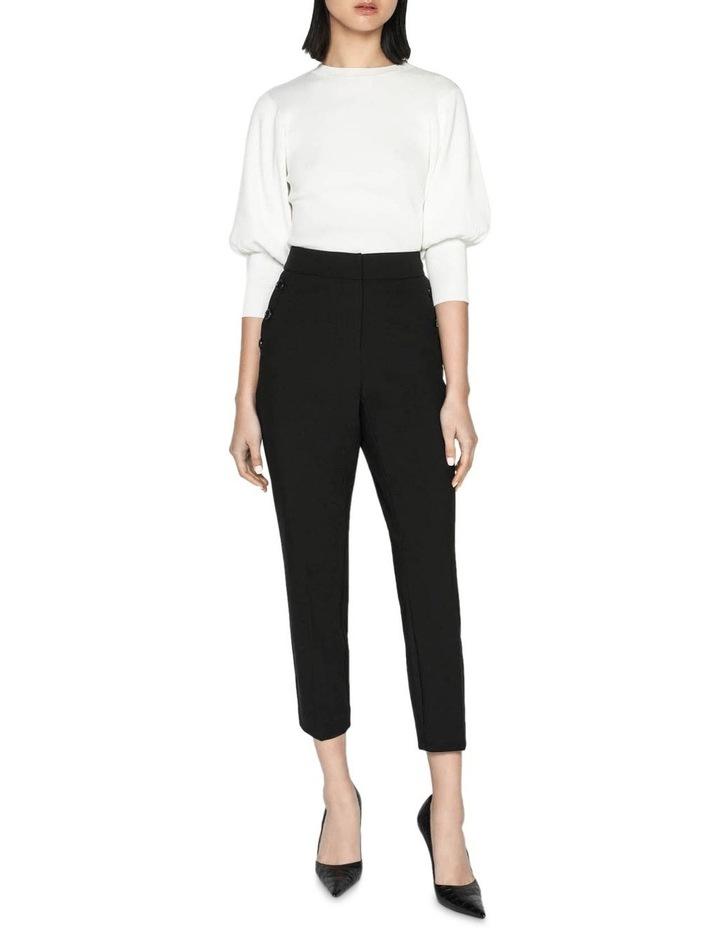 Button Front Slim Leg Pant image 1