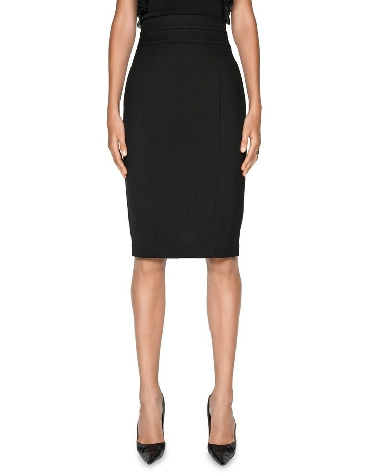 High Waisted Panelled Pencil Skirt image 2