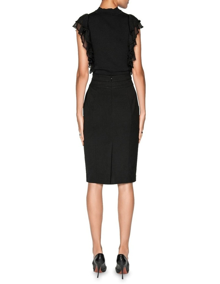 High Waisted Panelled Pencil Skirt image 3