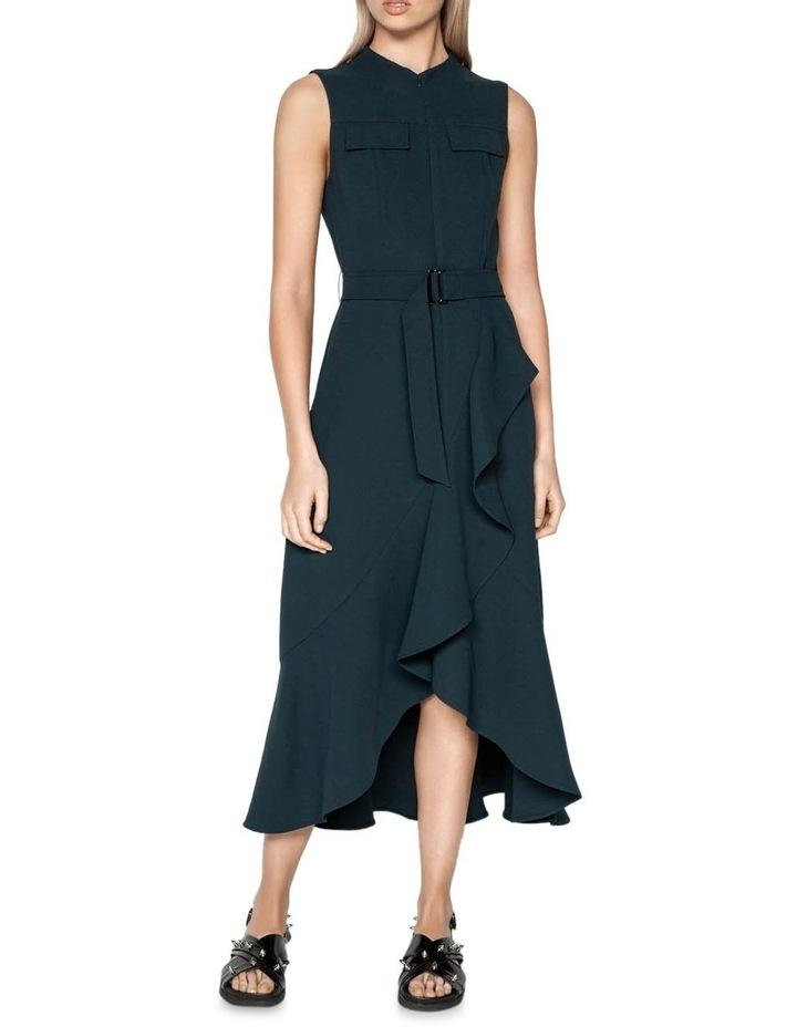 Belted Crepe Midi Dress image 1