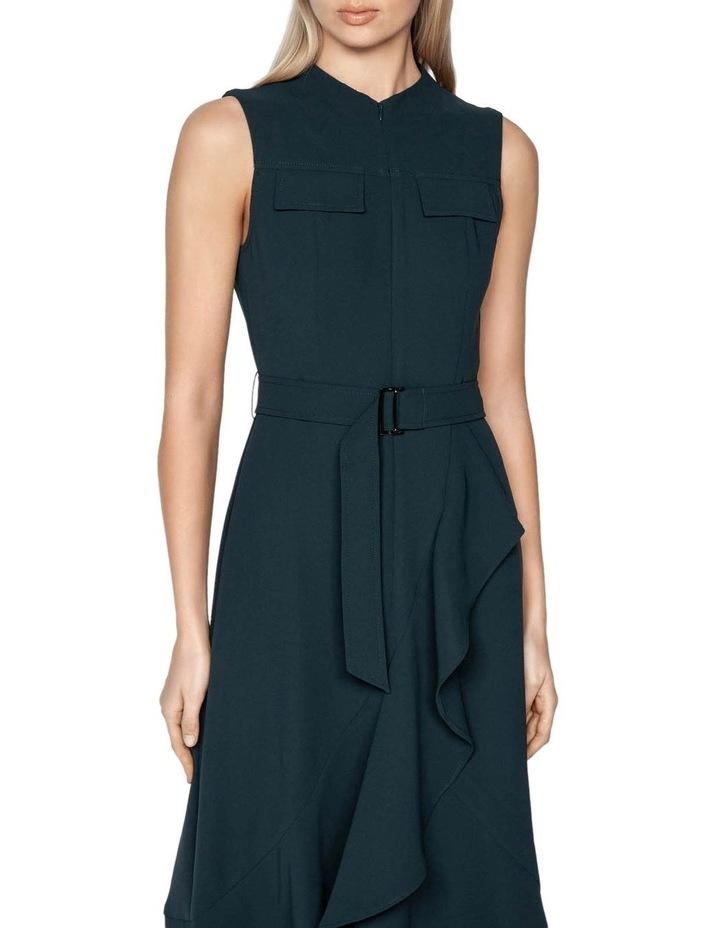 Belted Crepe Midi Dress image 2