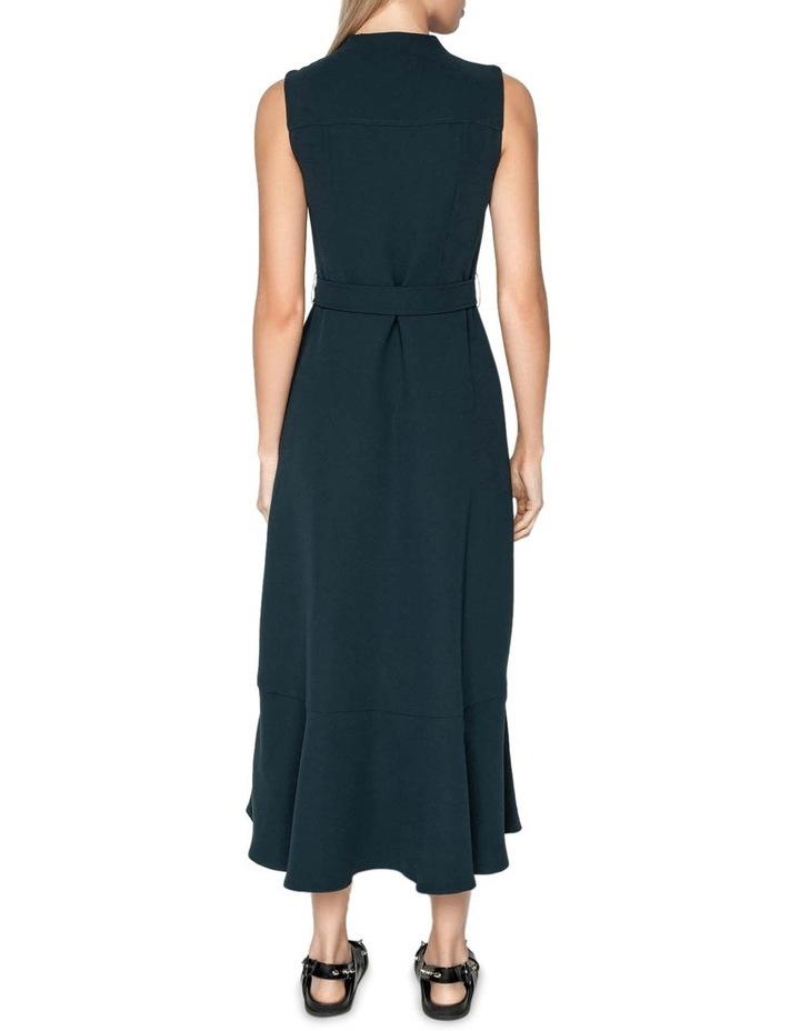 Belted Crepe Midi Dress image 3