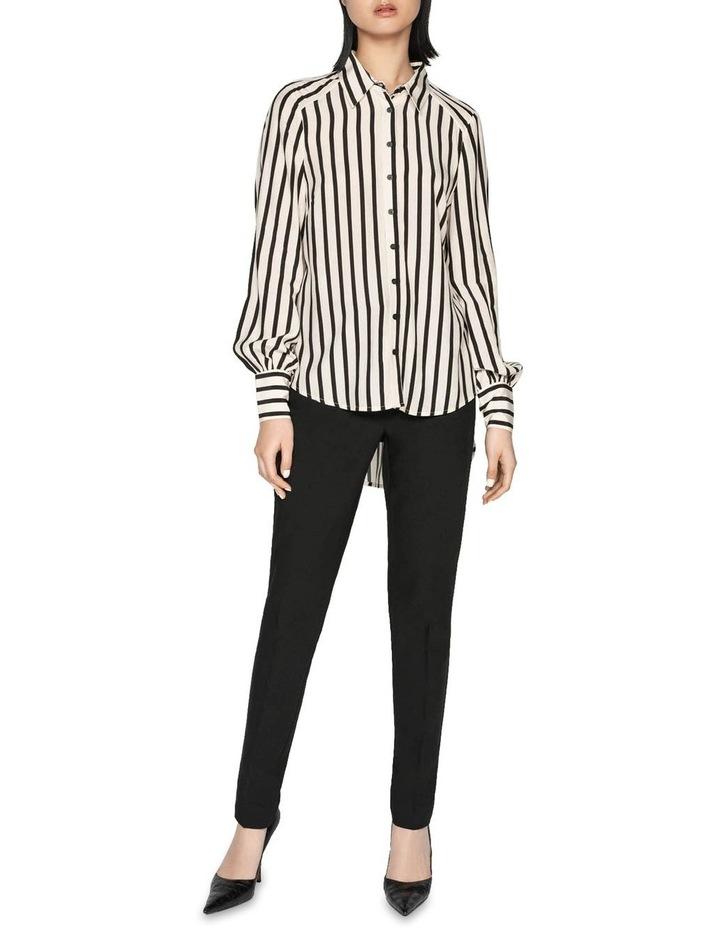 Striped Blouson Sleeve Shirt image 1