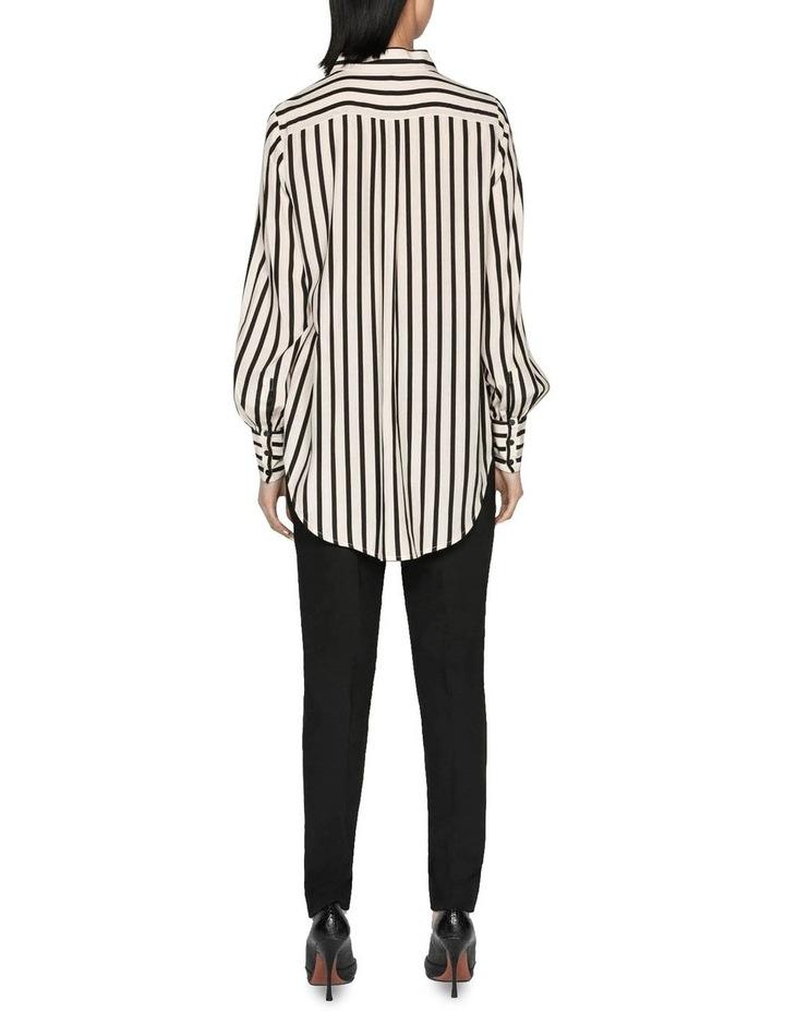 Striped Blouson Sleeve Shirt image 3