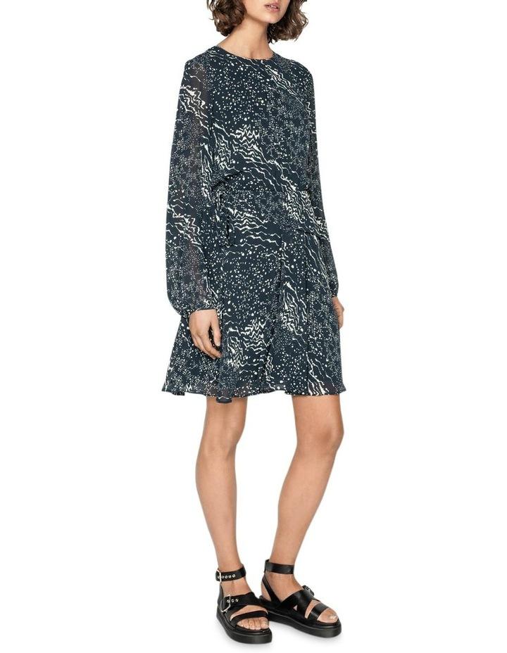 Monochrome Tie Waist Midi Dress image 1