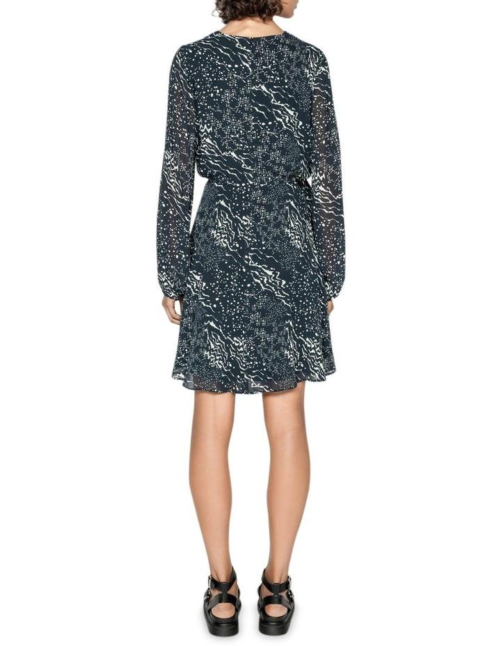 Monochrome Tie Waist Midi Dress image 3