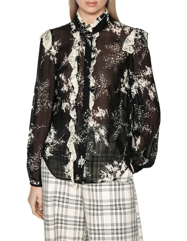 Abstract Floral Viscose Victorian Blouse image 2