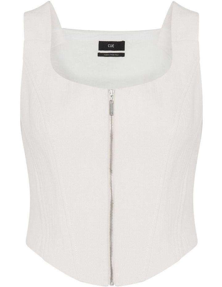 Ecru Cotton Linen Corset image 4