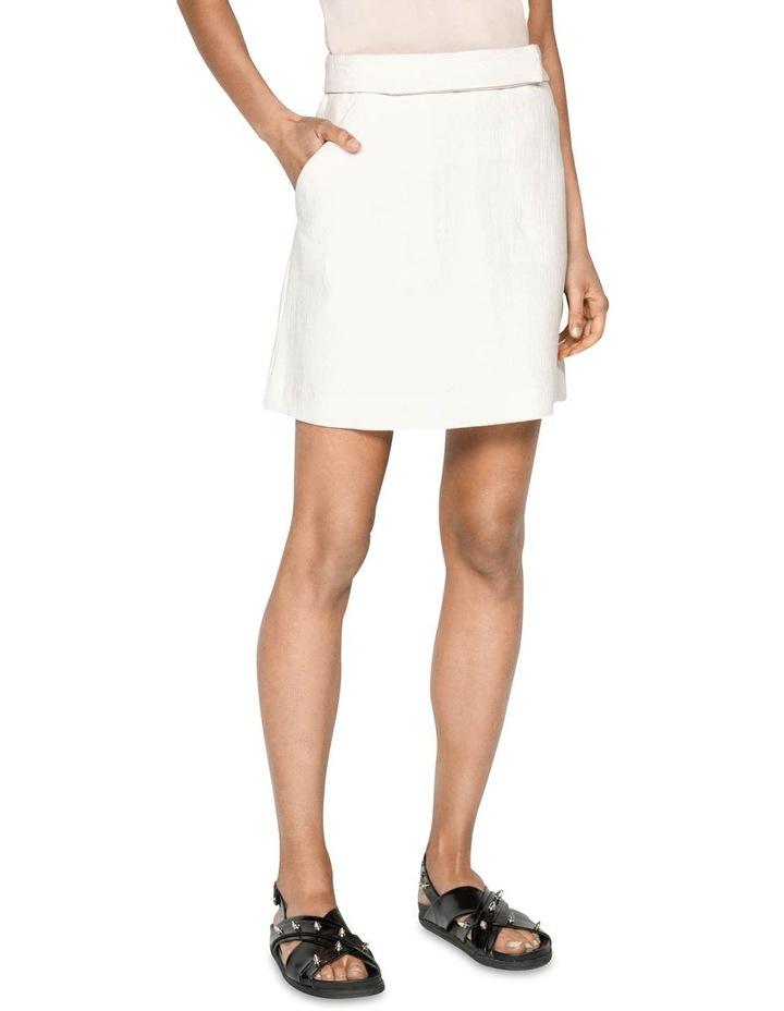 Ecru Cotton Linen Mini Skirt image 2