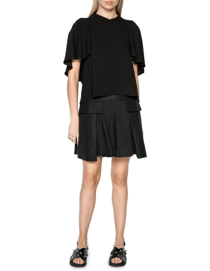 Funnel Neck Cape Sleeve Top image 1