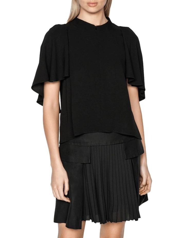 Funnel Neck Cape Sleeve Top image 2