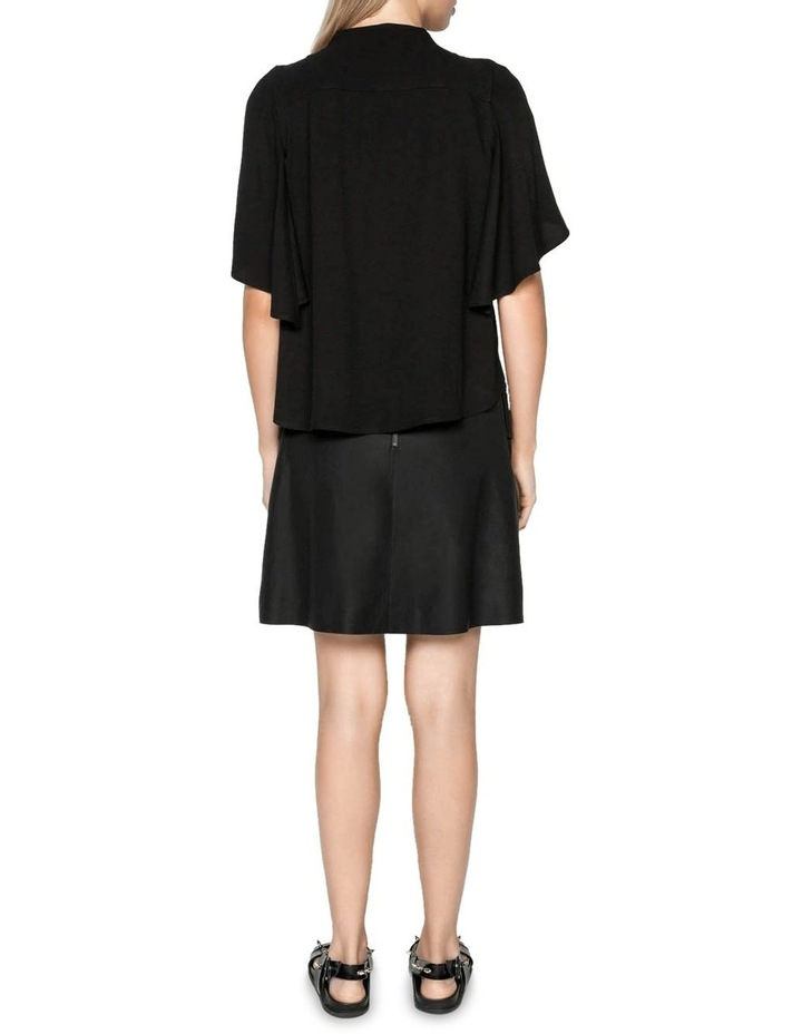 Funnel Neck Cape Sleeve Top image 3