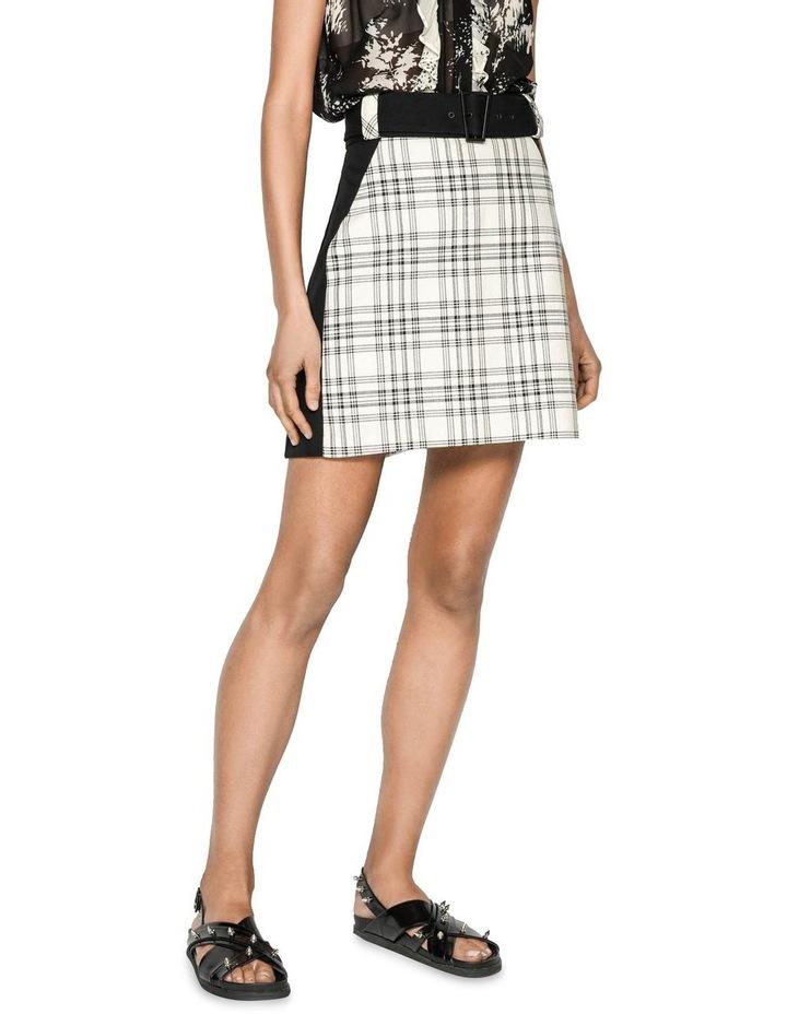 Sand Check Mini Skirt image 2