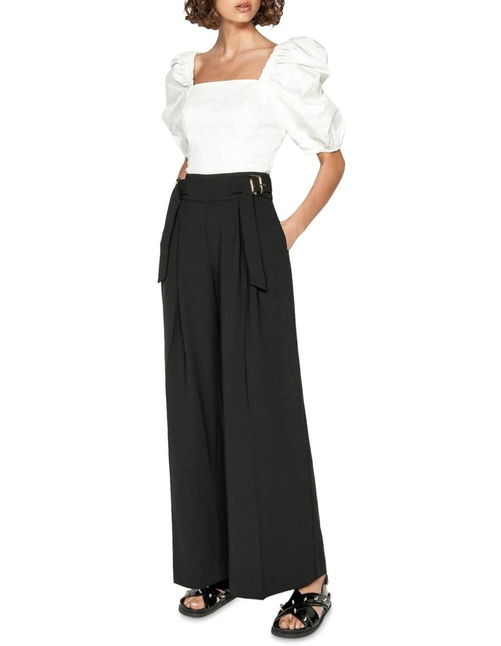 Washer Crepe Belted Wide Leg Pant image 1