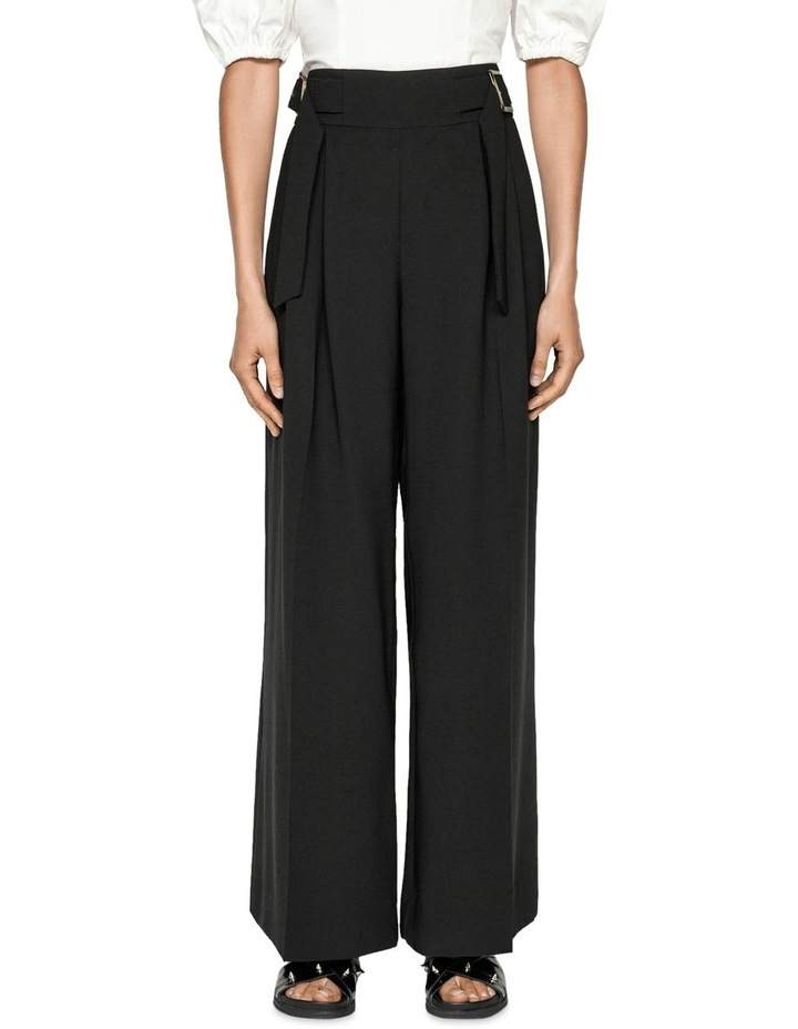 Washer Crepe Belted Wide Leg Pant image 2
