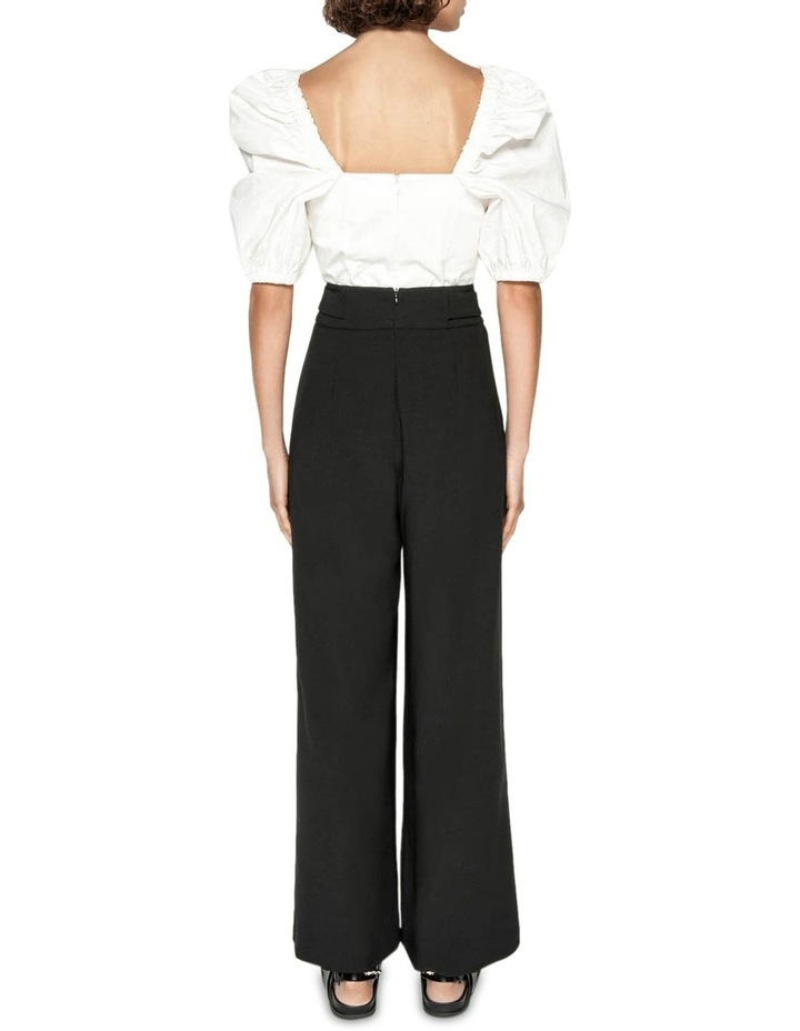 Washer Crepe Belted Wide Leg Pant image 3