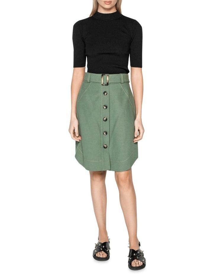 Tencel Cotton Button Front Skirt image 1
