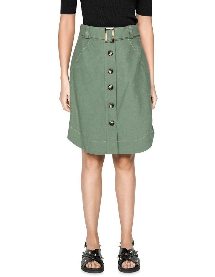 Tencel Cotton Button Front Skirt image 2