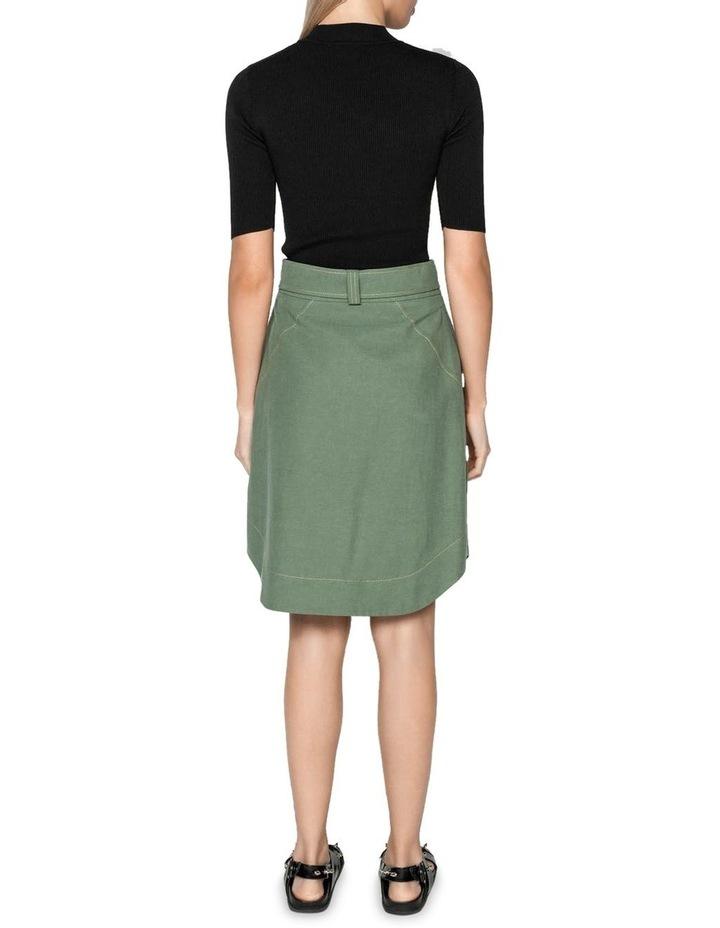 Tencel Cotton Button Front Skirt image 3