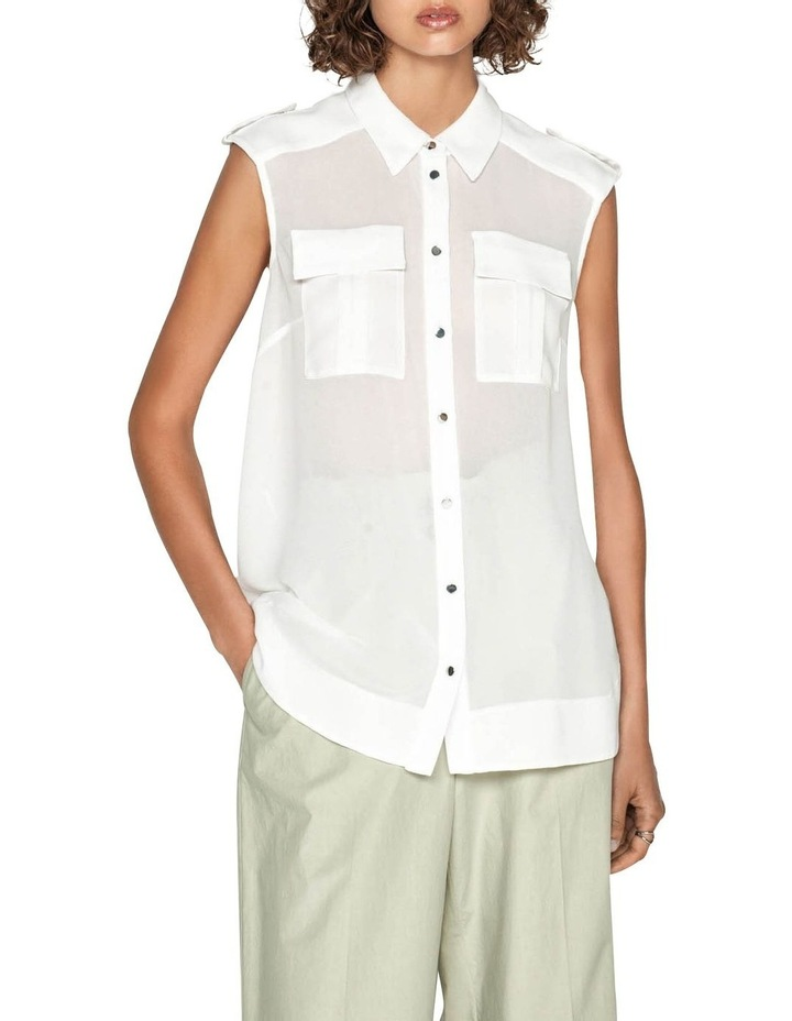 Georgette Utility Shirt image 3