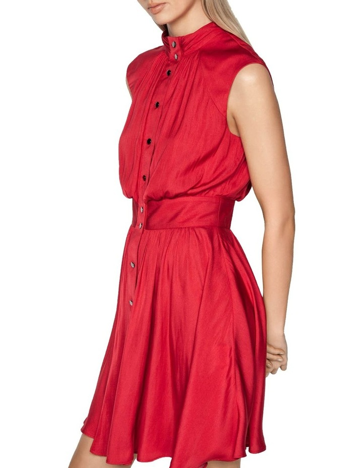 Satin Button Front Dress image 2