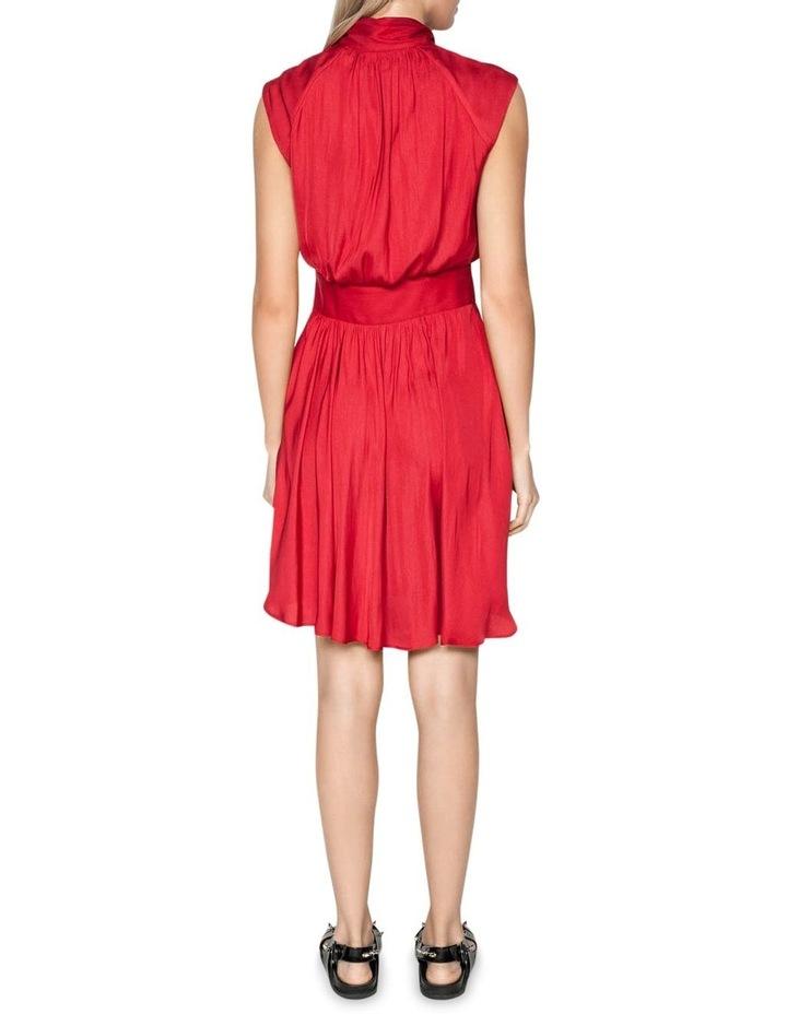 Satin Button Front Dress image 3