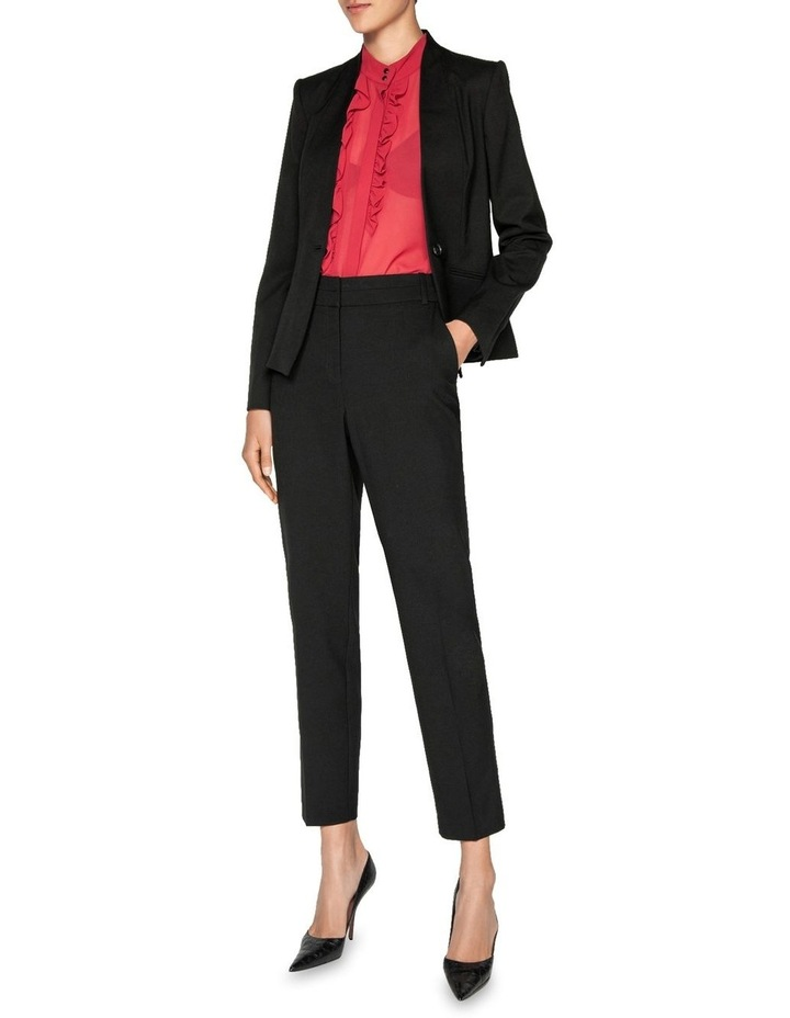 One Button Collarless Jacket image 1