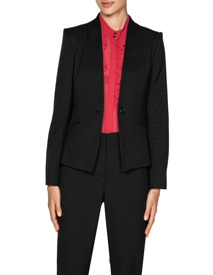 One Button Collarless Jacket image 2