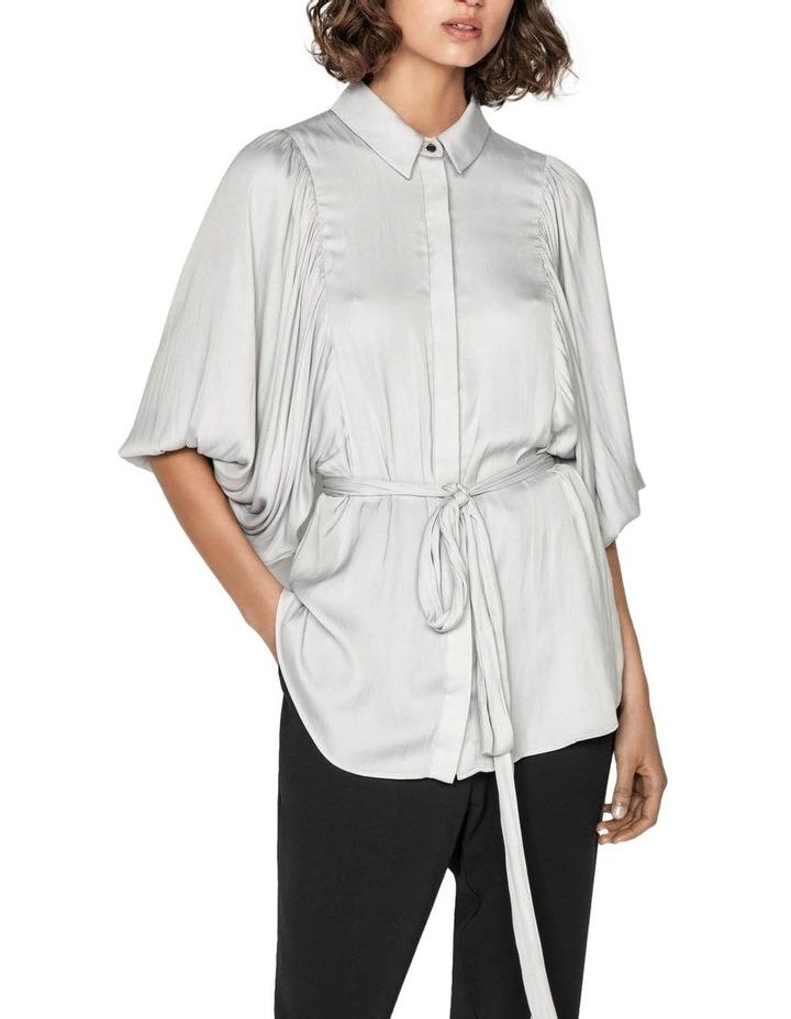 Satin Balloon Sleeve Shirt image 2