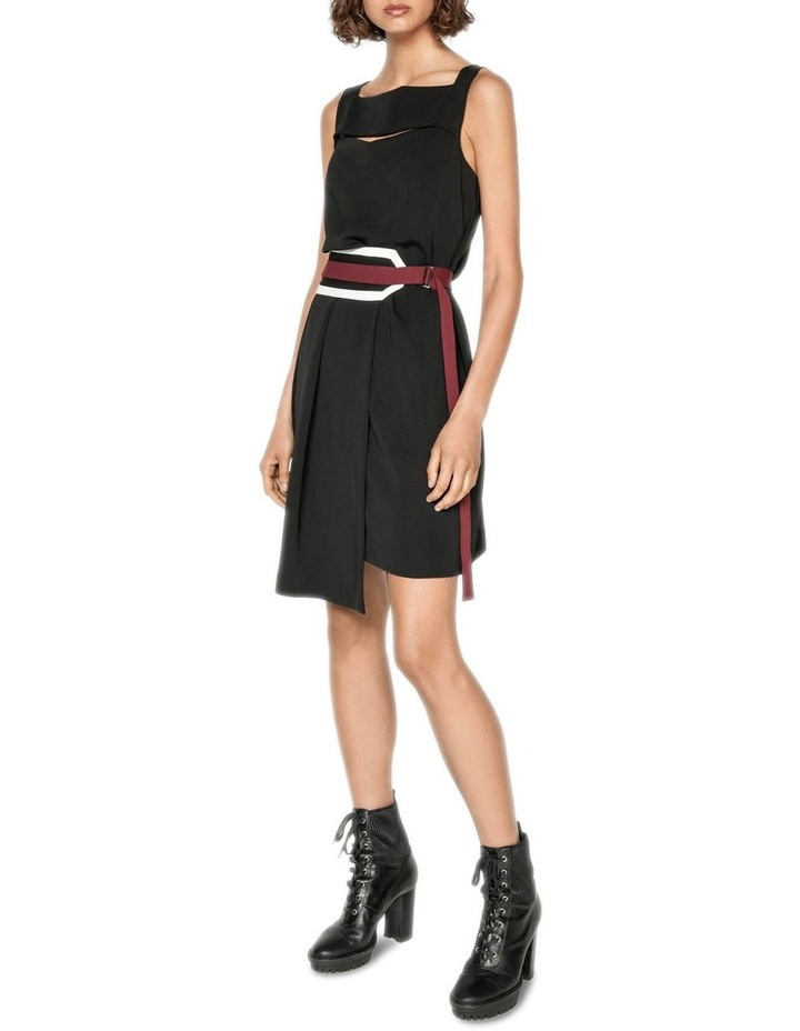 Spliced Washer Crepe Belted Dress image 1