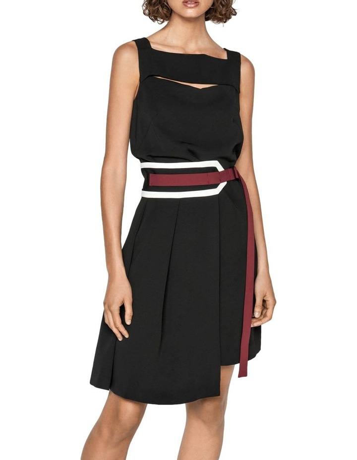 Spliced Washer Crepe Belted Dress image 2