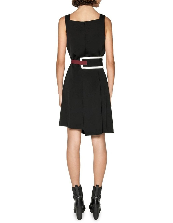 Spliced Washer Crepe Belted Dress image 3
