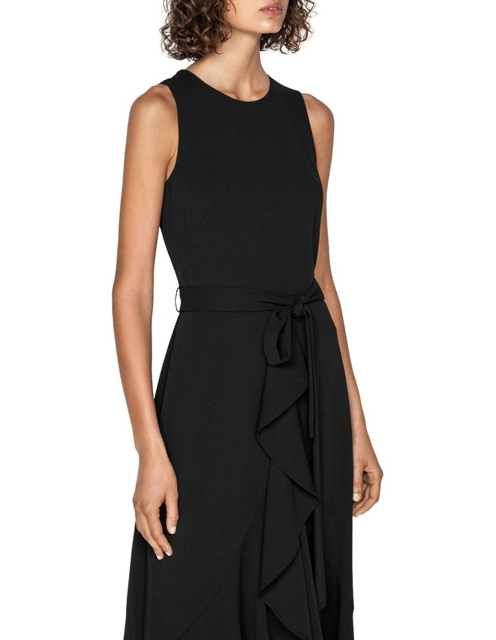 Frilled Hem Belted Midi Dress image 2