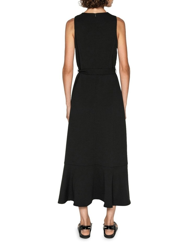Frilled Hem Belted Midi Dress image 3