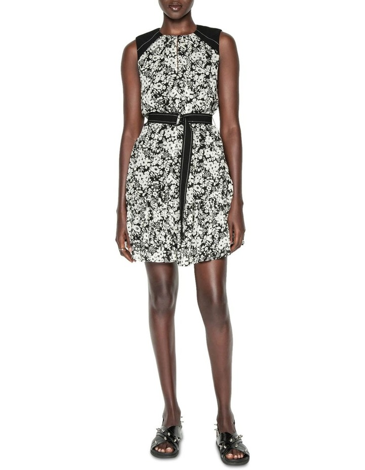 Monochrome Poppy Belted Dress image 1