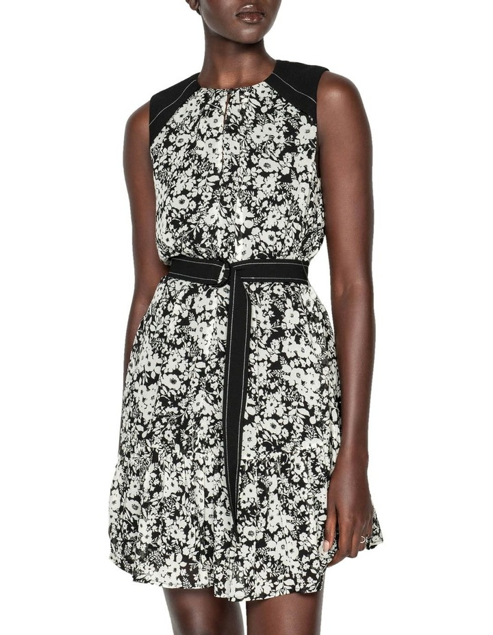 Monochrome Poppy Belted Dress image 2