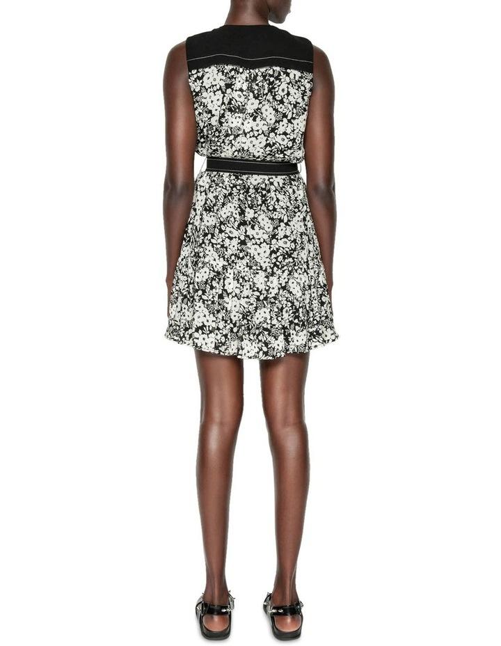 Monochrome Poppy Belted Dress image 3